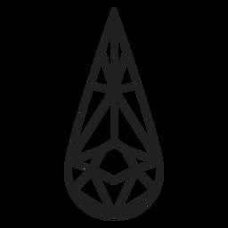 Icono de cristal de forma de lágrima