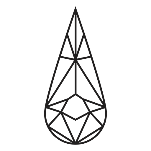 Icono de cristal de forma de lágrima Transparent PNG