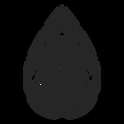 Tropfenförmiger Kristall