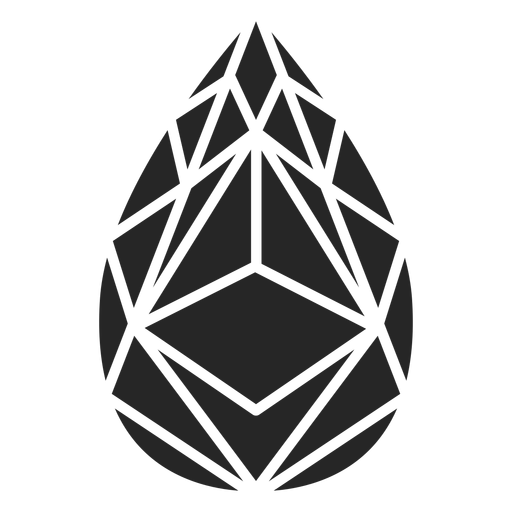 Teardrop like shape crystal Transparent PNG