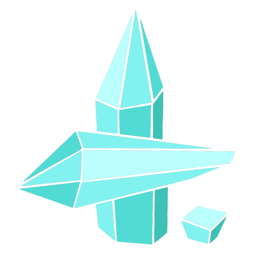 Three blue crystals Transparent PNG