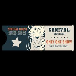 Ticket circus sample