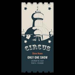 Tenda de circo bilhete