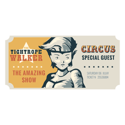 Tightrope walker circus ticket