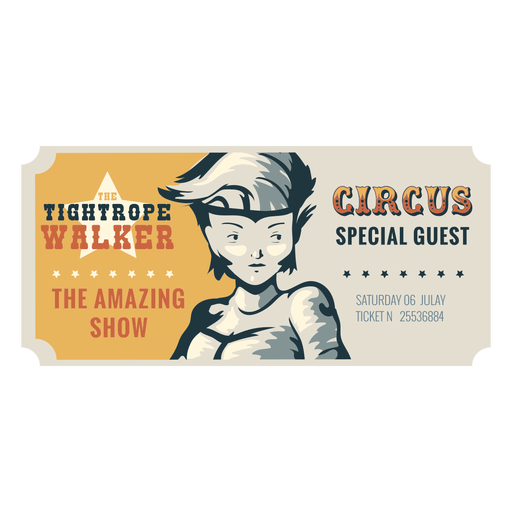 Bilhete de circo na corda bamba Transparent PNG