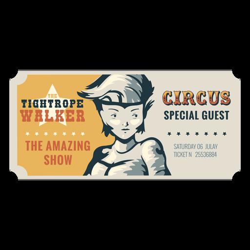 Tightrope walker circus ticket
