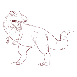 Trex dinosaur drawn