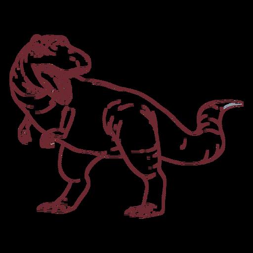 Trex dinosaur drawn