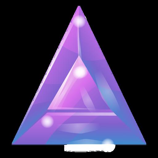 Triangle crystal purple