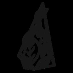 Triángulo de cristal frondoso