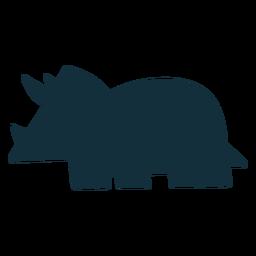 Triceratops dino silueta