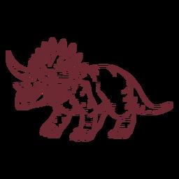 Triceratops dinosaur drawn