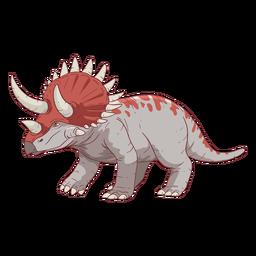 Ilustración de dinosaurio triceratops