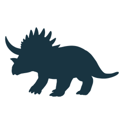 Triceratops Dinosaurier Silhouette