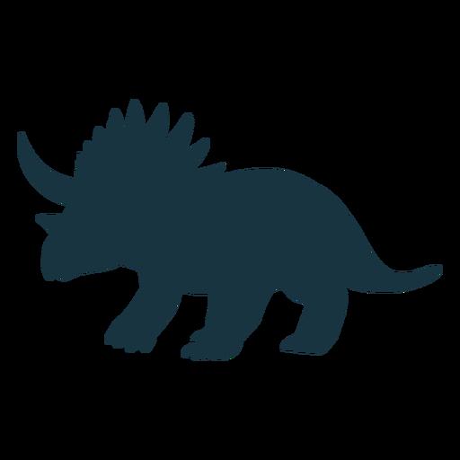 Silueta de dinosaurio triceratops Transparent PNG