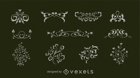 Ornamente und Flourishes-Sammlung