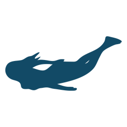 Silhueta de pose legal subaquática