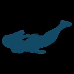 Silueta de pose fresca bajo el agua