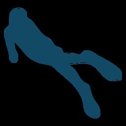 Underwater silhouette girl