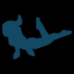 Silhueta de menina de natação subaquática