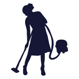 Vacuuming cleaner silhouette