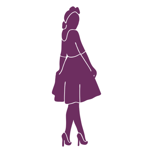 Vintage pinup girl silhouette