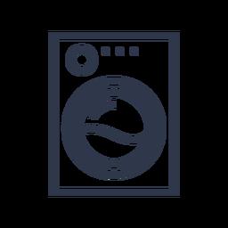 Limpieza de icono de lavadora