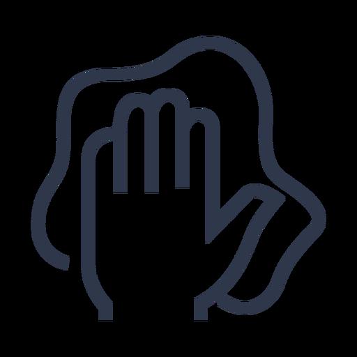 Limpiar el icono de la mano