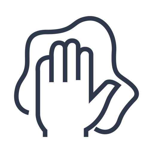 Wiping hand icon