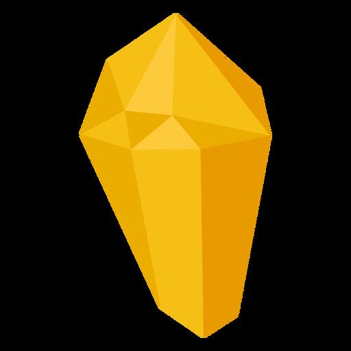 Yellow block crystal Transparent PNG