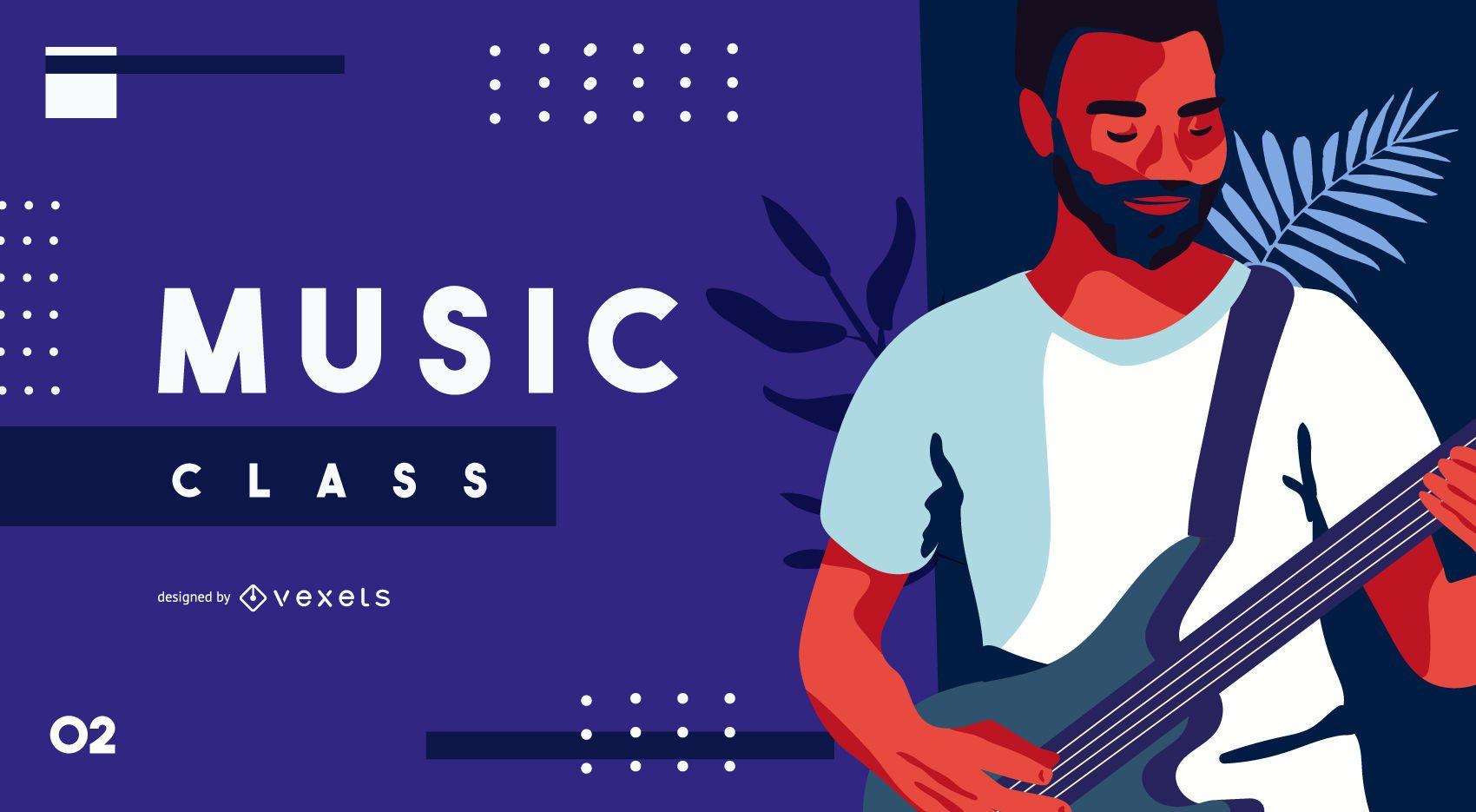 Capa para educação de aula de música