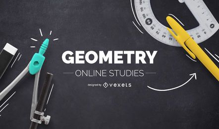 Diseño de portada en línea de geometría