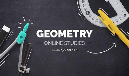 Diseño de portada online de geometría