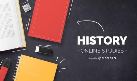 Design da capa do History on-line
