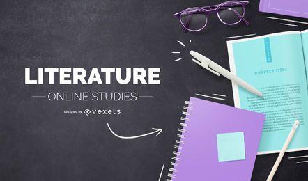 Diseño de portada en línea de literatura