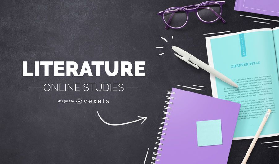 Literature online cover design