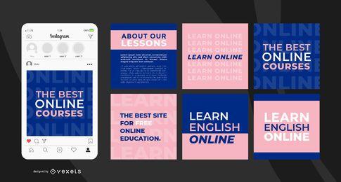 Plantilla de publicación de Instagram para aprender inglés
