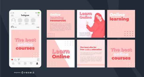 Simple Online Learning Instagram Post Template