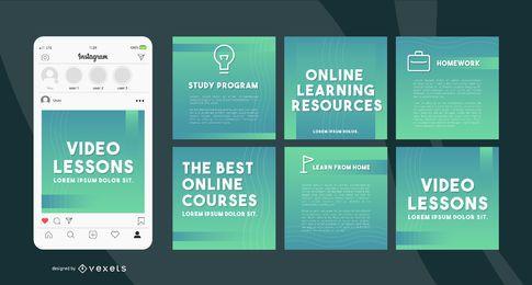 Online-Lernvorlagen für soziale Medien