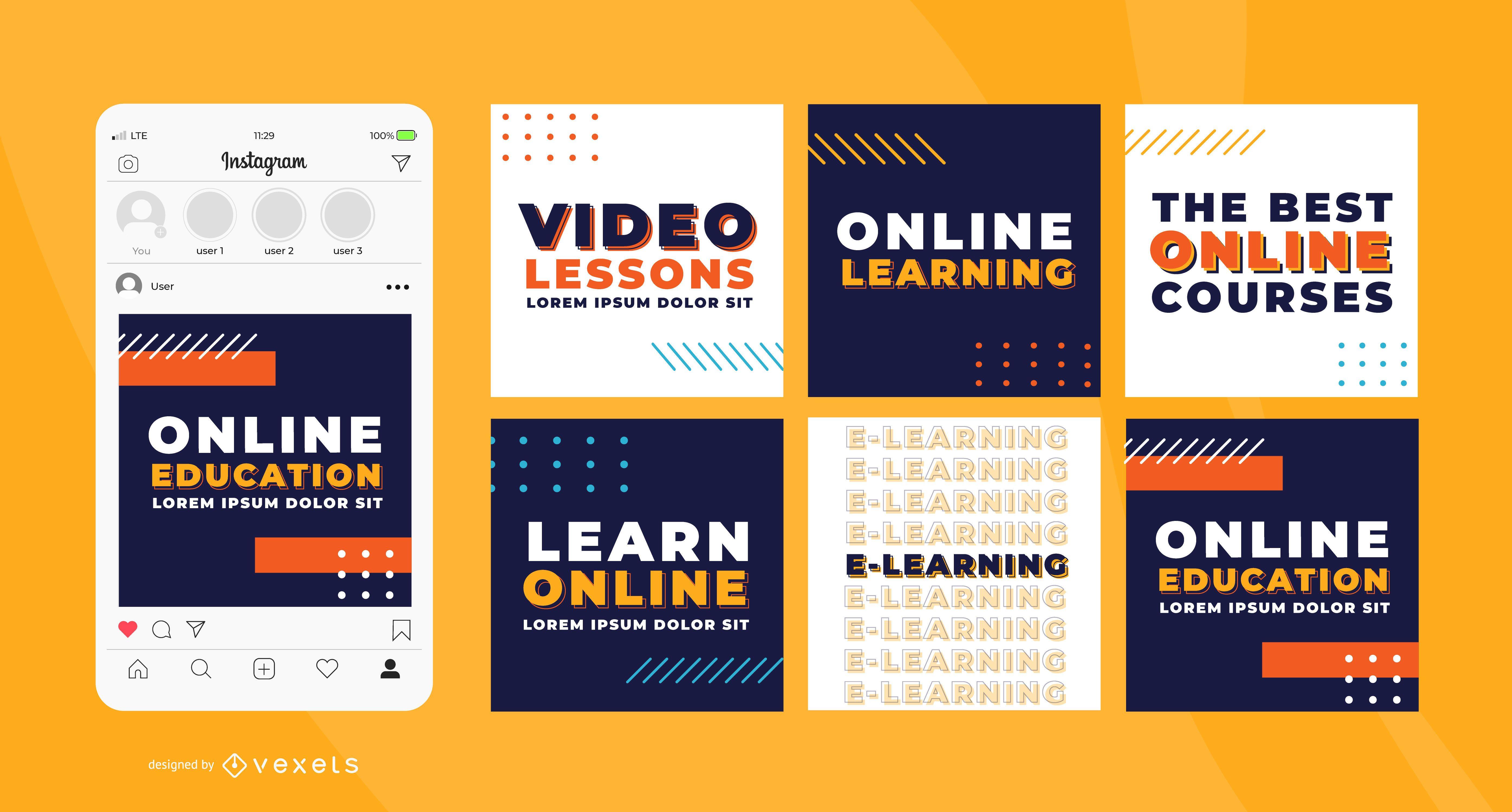 Learn online social media templates