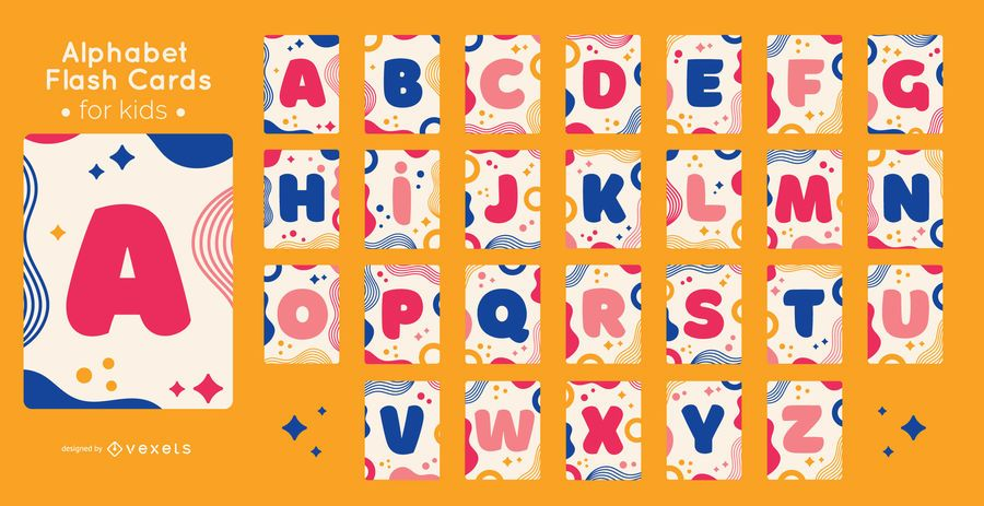 Alphabet flashcard set