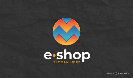 Modelo de logotipo da loja virtual