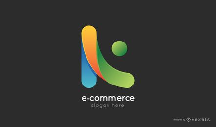 Modelo de logotipo de comércio eletrônico