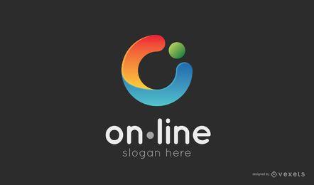 Plantilla de logotipo de compras en línea