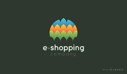 Modelo de logotipo de compras eletrônicas