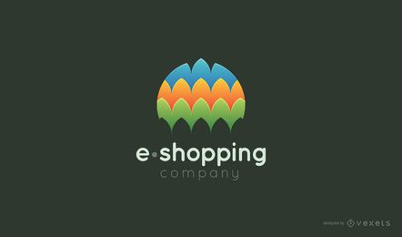 Modelo de logotipo de E-shopping