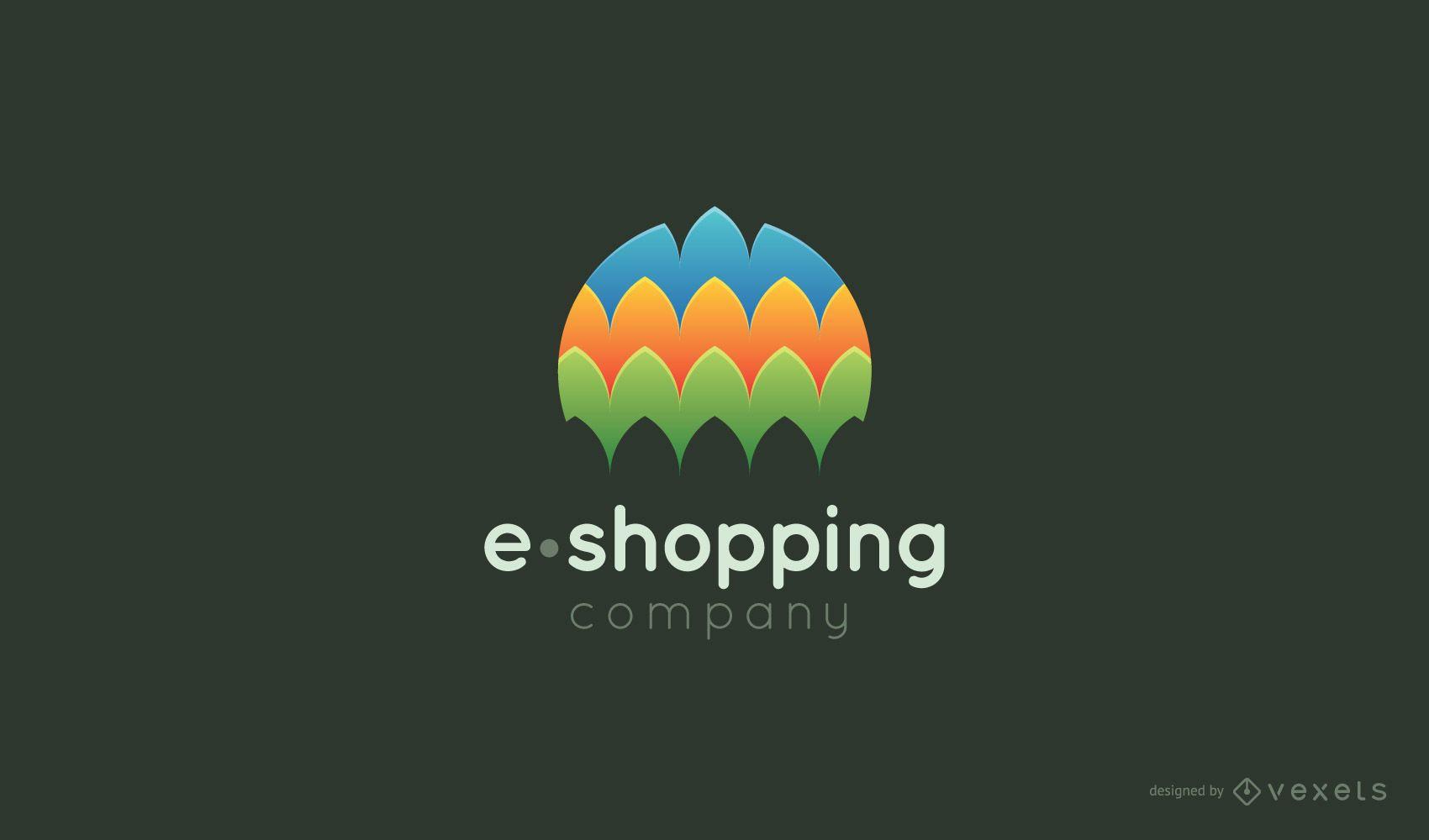 Plantilla de logotipo de compras electrónicas