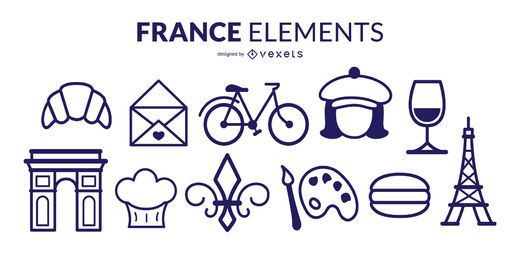 France Stroke Elements Pack