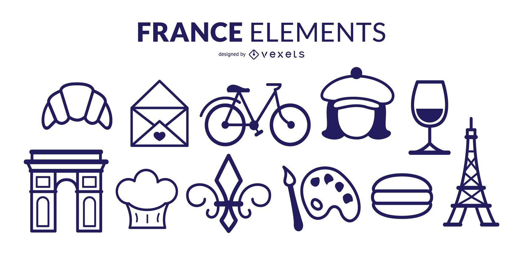 France Stroke Elements Pack