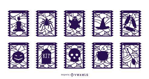Halloween Elemente Garland Banner Pack